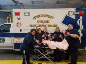 2012 Lyndhurst Police Emergency Squad is raising breast cancer awareness by wearing Pink Gloves in October.
